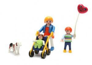 Lego Familie mit Hund